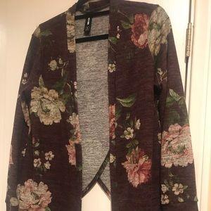 Darling plumb floral cardigan in Medium